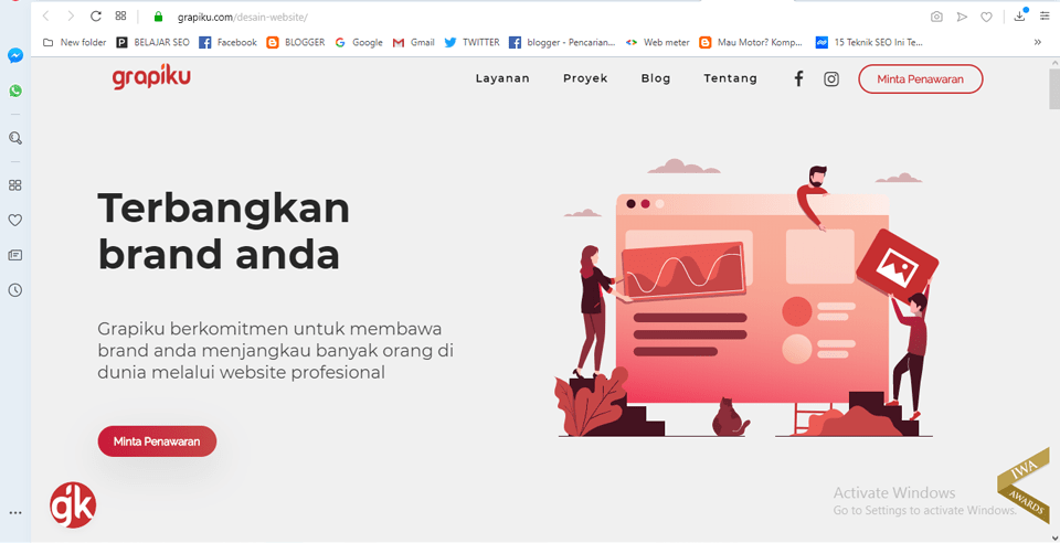 Jasa Pembuatan Website Berkualitas Grapiku dot Kom